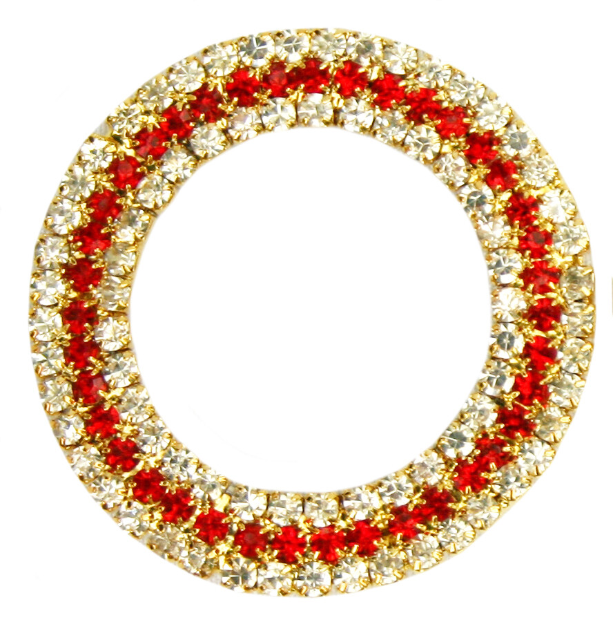 50mm Red Triple Row Ring
