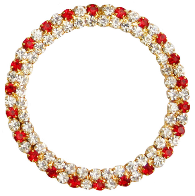 50mm Red Double Row Ring