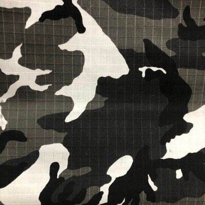 Black/Grey camo Canvas
