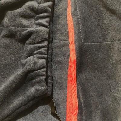 Polar Fleece Neck rug - Navy/Red binding (Small Pony Size)