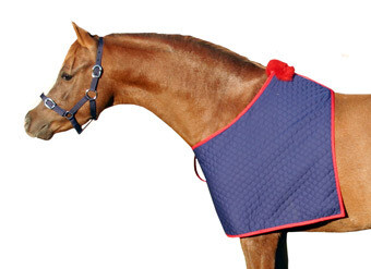 "5'0"" Quilted Bib - Navy Red"