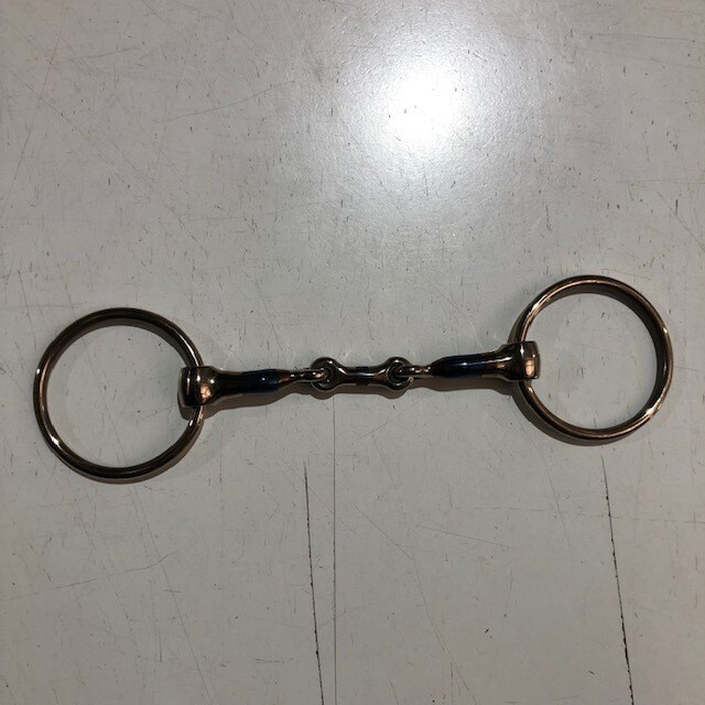 "Loose Ring French Link Snaffle 5"" Blue steel"