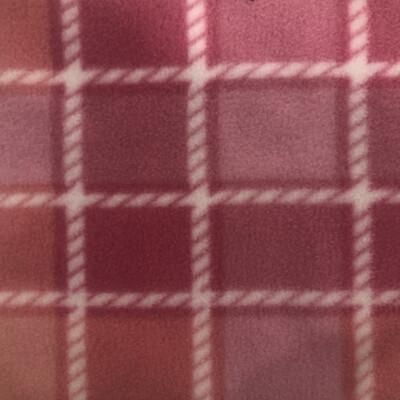 Polar Fleece Saddle Cover - Pink Check