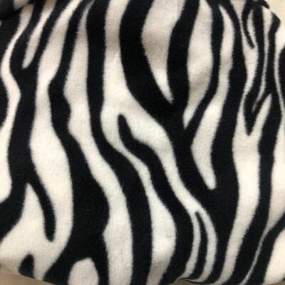 Polar Fleece Saddle Cover - Zebra Print