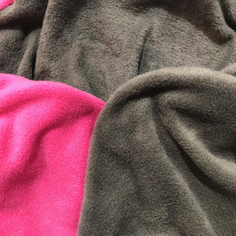 Polar Fleece Saddle Cover -Pink/grey