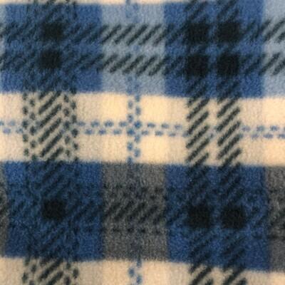 Polar Fleece Saddle Cover -Blue Check