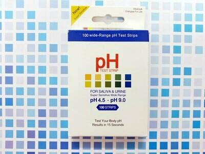 4.5 - 9.0 pH Test Strips (100 Strips/box)
