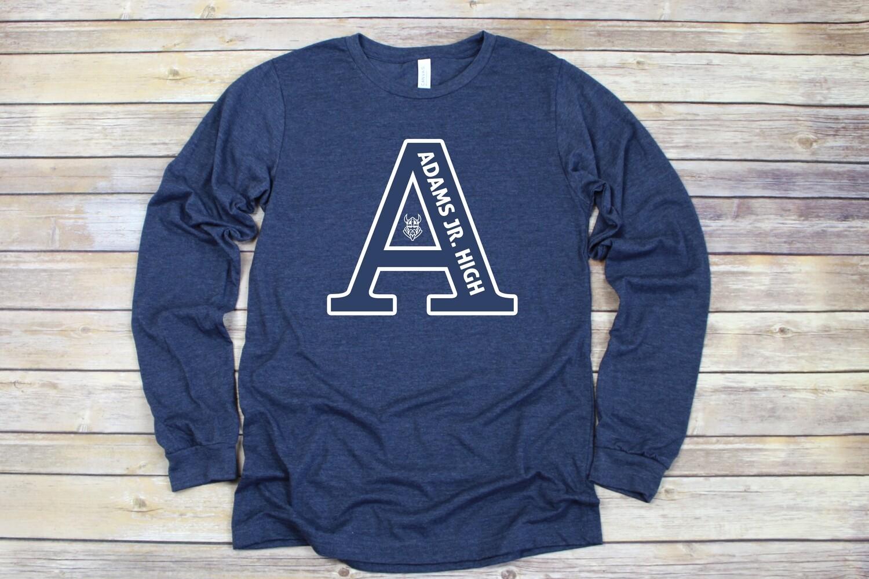 Navy Adams logo Shirt (DISCOUNTED)