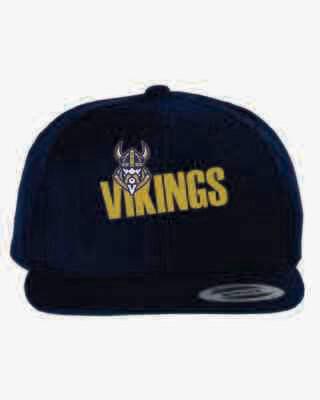 Vikings Flat Bill Snapback Cap -Navy