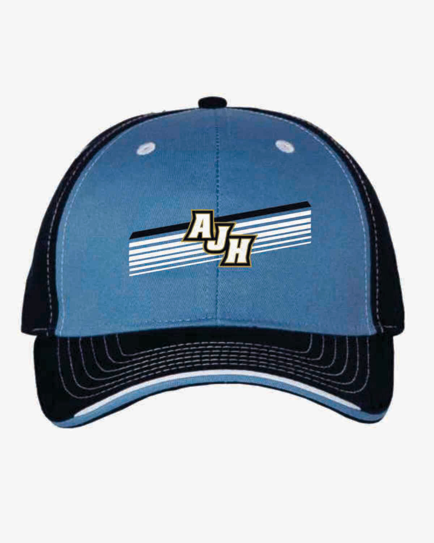 AJH Tri-color Cap - Light Blue/Navy
