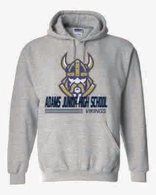 Vikings Hoodie - Sports Grey