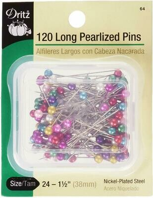 LONG PEARLIZED PINS (120 PCS) | Dritz