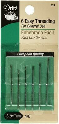 EASY THREADING NEEDLES (6 PC / 4/8 SIZE ) | Dritz