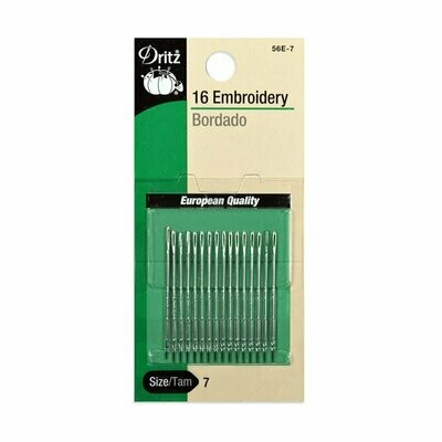 EMBROIDERY NEEDLES ( 16 PC )