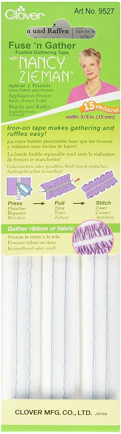 FUSE N' GATHER / FUSIBLE GATHERING TAPE (15YDS) | Clover
