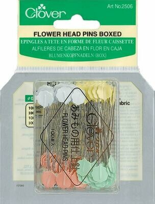 FLOWER HEAD PIN BOXED (100 PC) | Clover