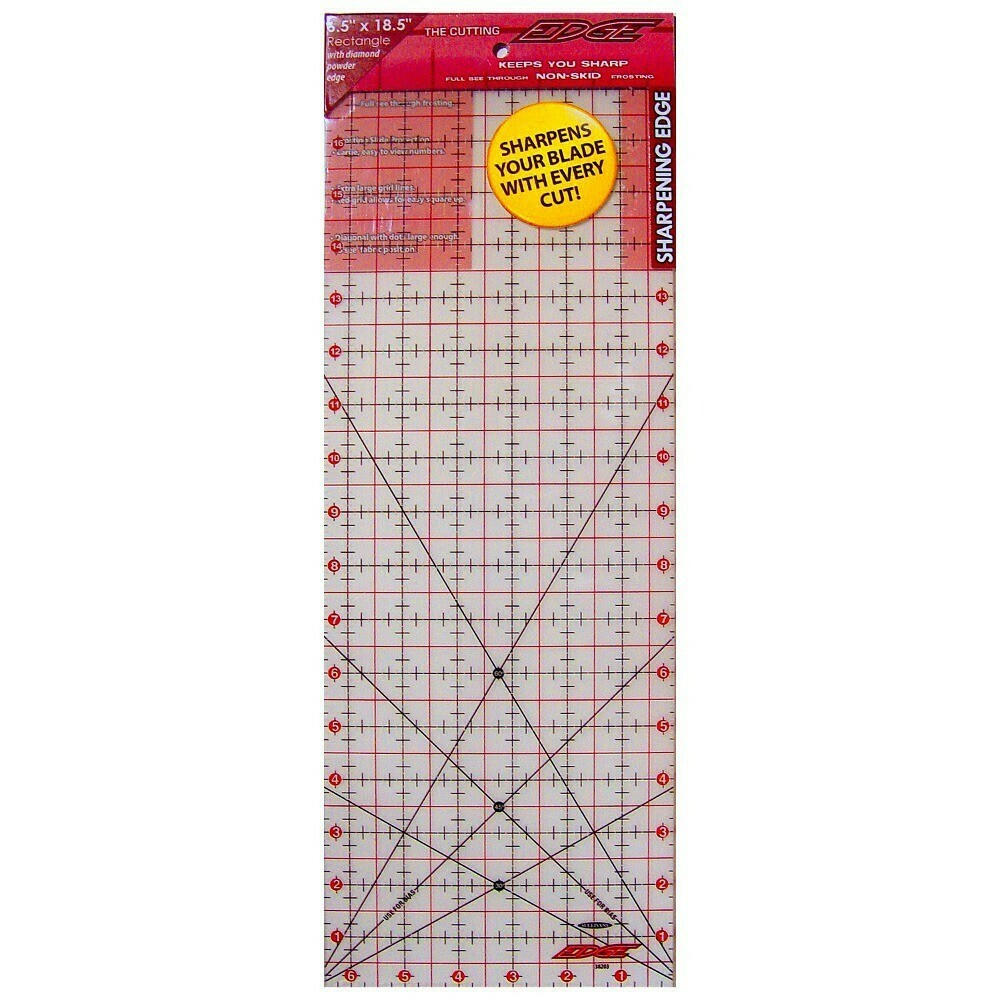 """6 1/2"""" x 18 1/2"""" QUILTER'S RULER   The Cutting Edge"""