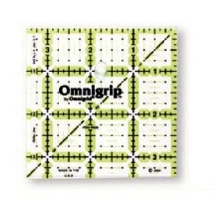 """3 1/2"""" x 3 1/2"""" QUILTER'S RULER   Omnigrid"""