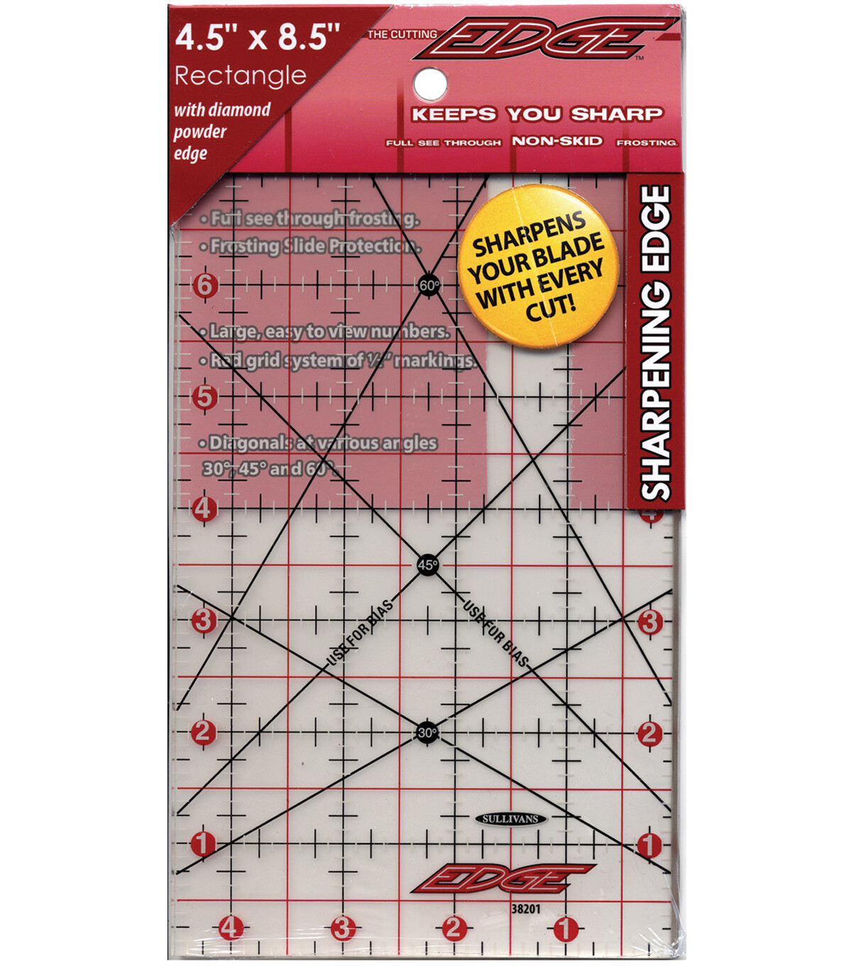 """4 1/2"""" x 8 1/2"""" QUILTER'S RULER 