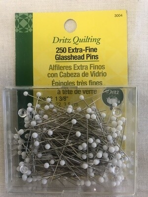 EXTRA - FINE GLASSHEAD PINS (250 PC) | Dritz