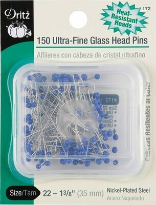 ULTRA - FINE GLASS HEAD PINS 1 3/8