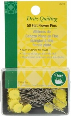 FLAT FLOWER PINS (50 PC) | Dritz