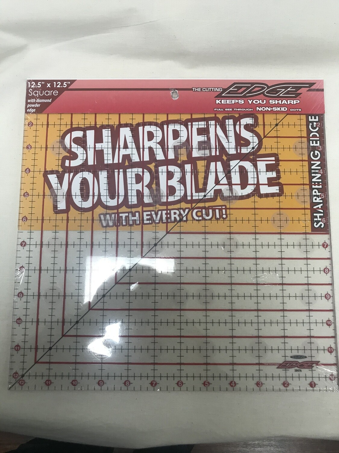 """12 1/2"""" x 12 1/2"""" QUILTER'S RULER 