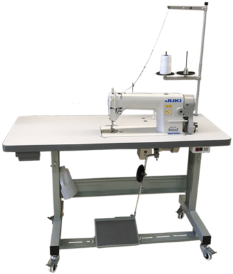 JUKI DDL 8700 SINGLE NEEDLE INDUSTRIAL MACHINE W/ TABLE +LIGHT