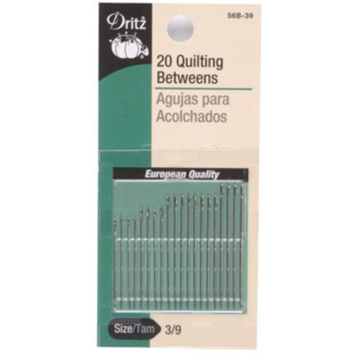 QUILITING BETWEENS NEEDLES (SIZE 3/9, 20 PCS) | Dritz