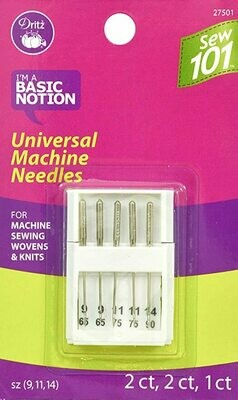 UNIVERSAL MACHINE NEEDLES (5 PC) SIZE 9,11 & 14 | Dritz