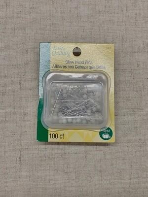 GLOW HEAD PINS (100 PC) | Dritz
