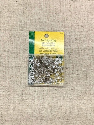 EXTRA FINE GLASS HEAD PINS (250 PC) 1 3/8
