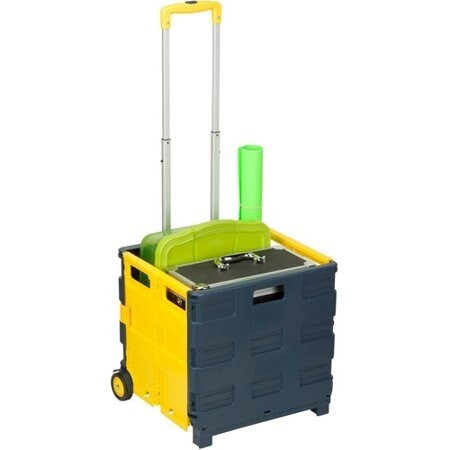 Honey Can Do Folding 2-Wheel Utility Crate Rolling Cart (Recommended  for transporting equipment)