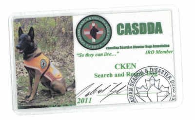 K-9 ID card (late order/replacement card)