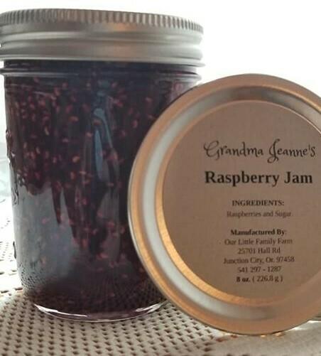 Grandma Jeanne's Raspberry Jam