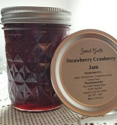 Sweet Tarts Strawberry Cranberry Jam