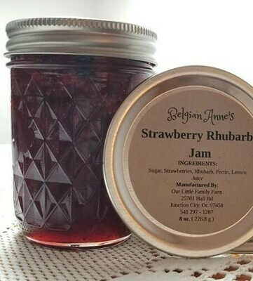 Belgian Anne's Strawberry Rhubarb Jam