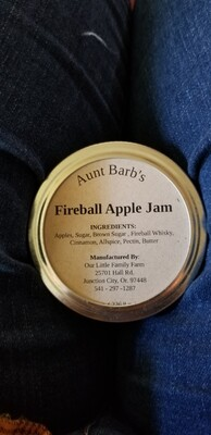 Aunt Barb's Fireball Apple Jam