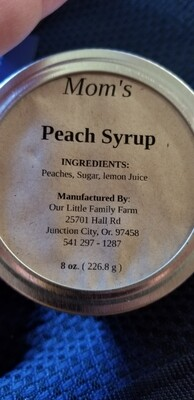 Mom's Peach Syrup