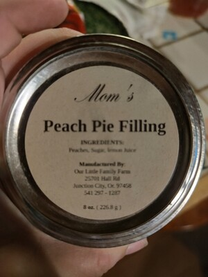 Mom's Peach Pie Filling