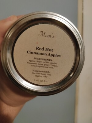 Mom's Red Hot Cinnamon Apples