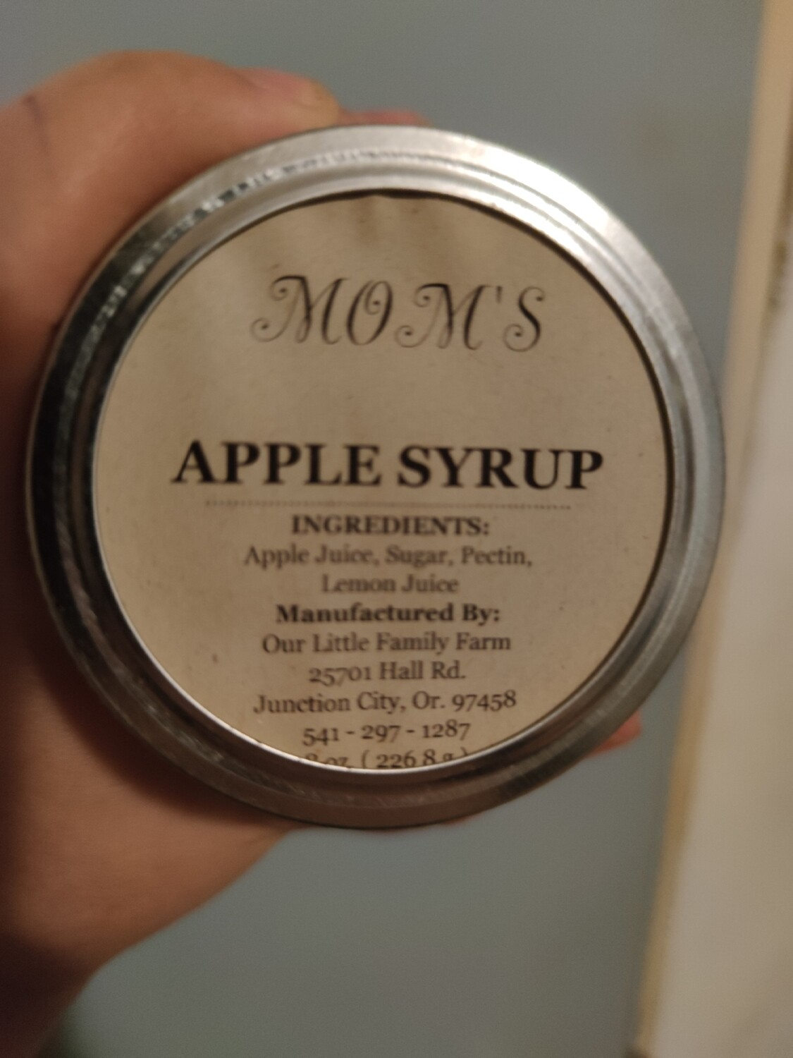 Mom's Apple Syrup