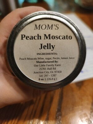 Mom's Peach Moscato Jelly