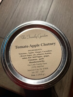 The Family Garden Tomato Apple Chutney