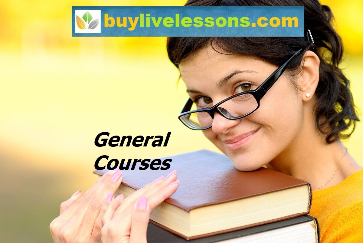 ​BUY 30 GENERAL LIVE LESSONS FOR 90 MINUTES EACH.​