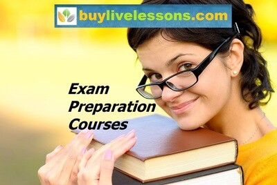 BUY 1 EXAM PREPARATION LIVE LESSON FOR 45 MINUTES.
