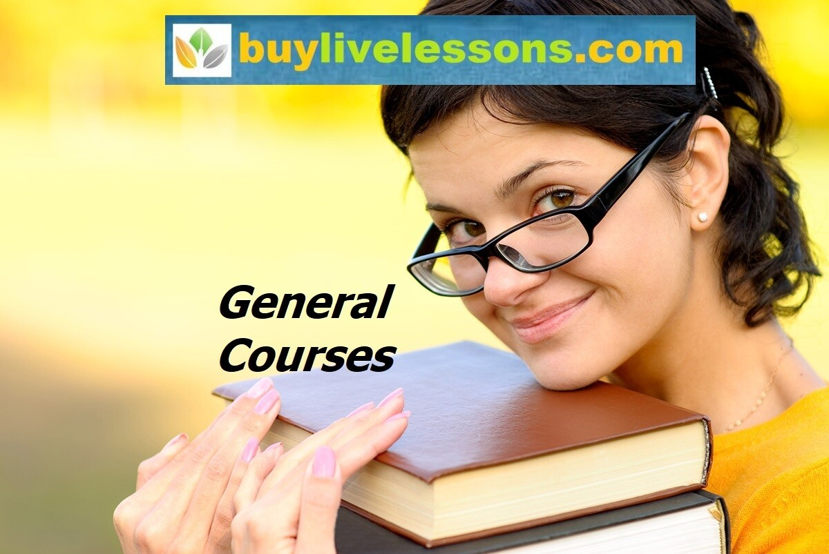 BUY 70 GENERAL LIVE LESSONS FOR 90 MINUTES EACH.