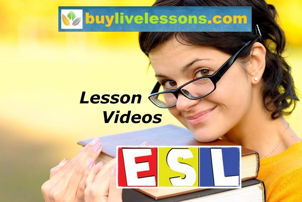 ESL Lesson Videos 3