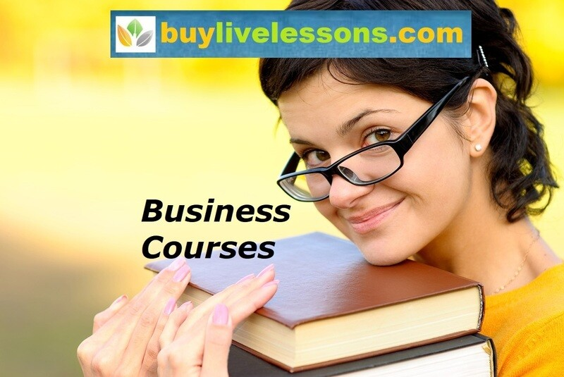 BUY 40 BUSINESS LIVE LESSONS FOR 45 MINUTES EACH.