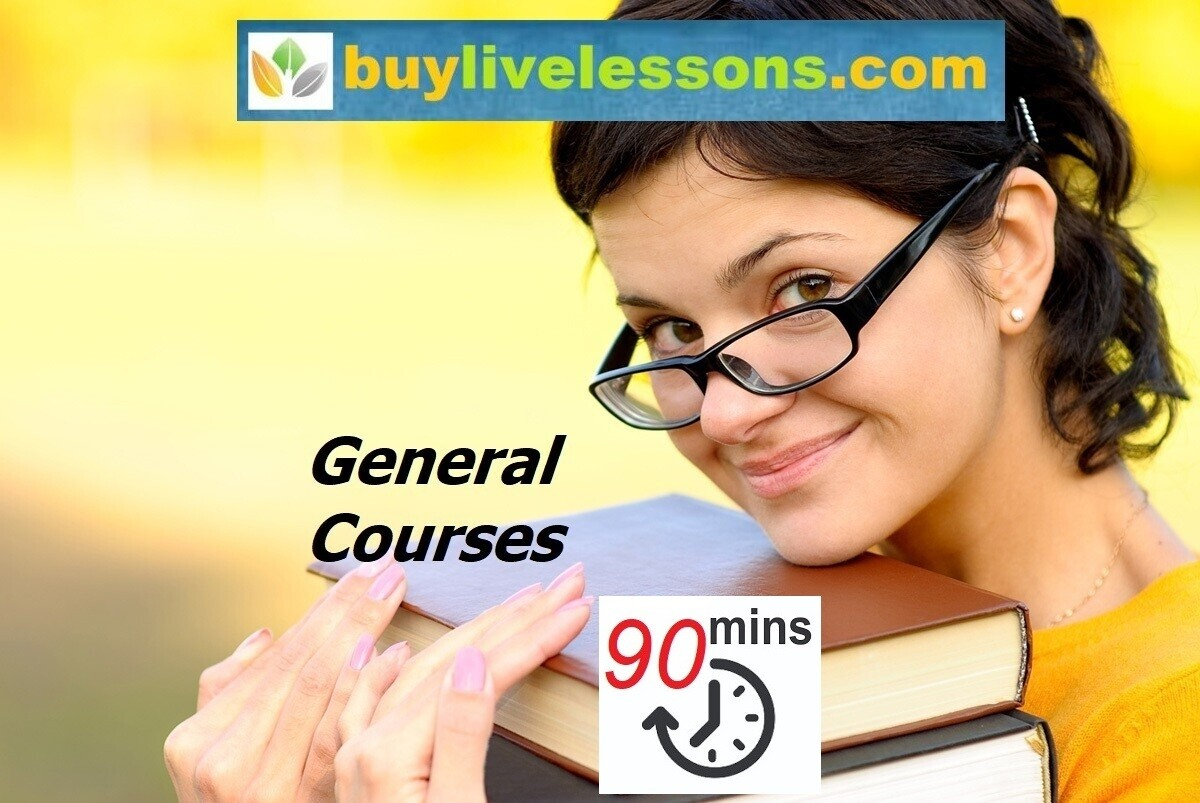​BUY 50 GENERAL LIVE LESSONS FOR 90 MINUTES EACH.​